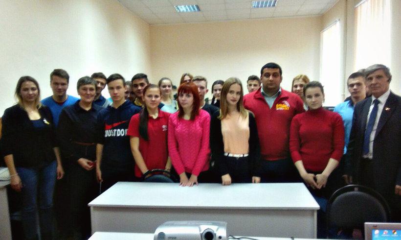 Встреча со студентами. Мещовск