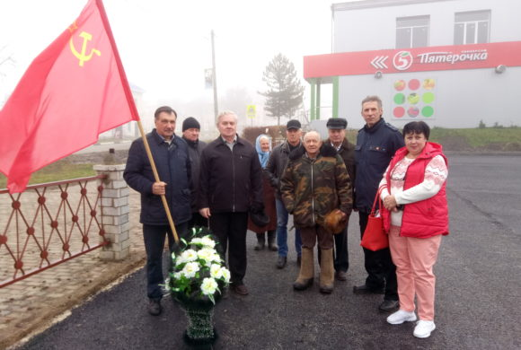 Праздник Великого Октября в Мещовске